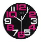 Nástěnné hodiny JVD H107.4  černo růžové